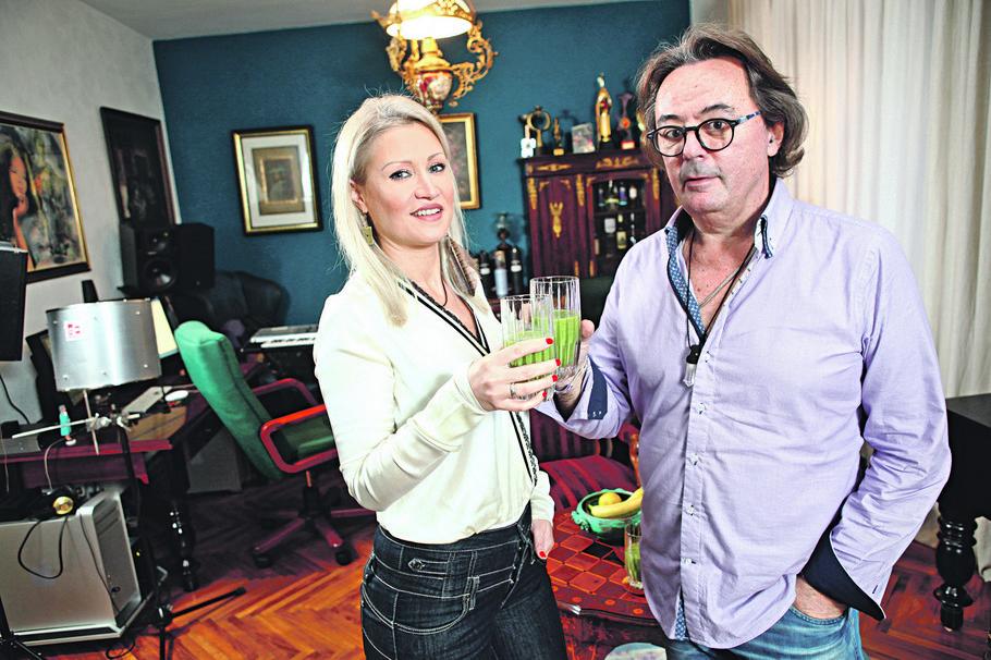 Sanja Ilić i njegova supruga Tanja