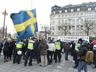 Swedish police detain three after anti-immigrant protest