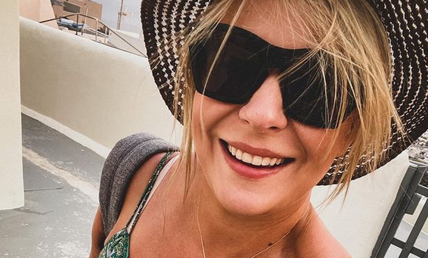 Aneta Zając spędza czas na wakacjach w Grecji.