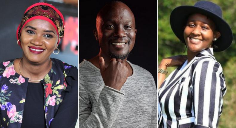 Munira Muhammad, Dennis Onsarigo and Carol Nderi