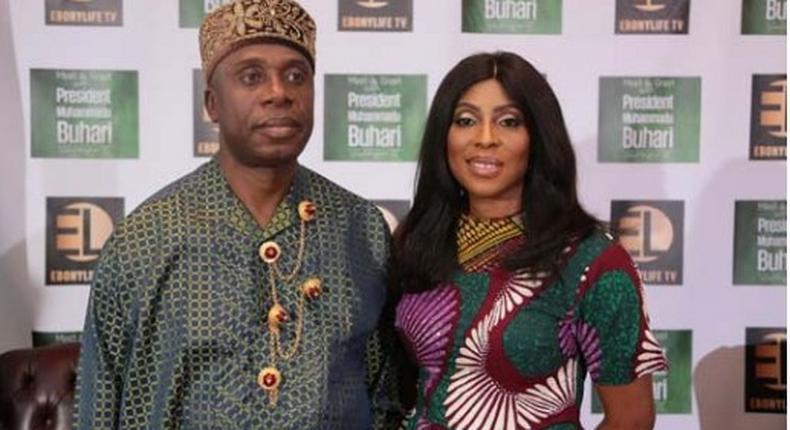 Rotimi Amaechi and Mo Abudu