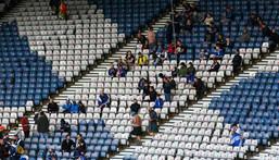Fans at Hampden Park ahead of Scotland's Euro opener Creator: ANDY BUCHANAN