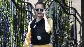 Natalie Portman na spacerze z kilkutygodniowym dzieckiem