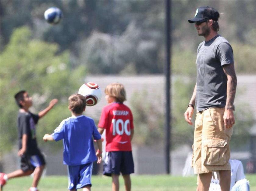 Beckham przyszła na mecz synów