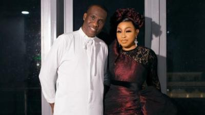 Rita Dominic steps out in style with her partner Fidelis Anosike