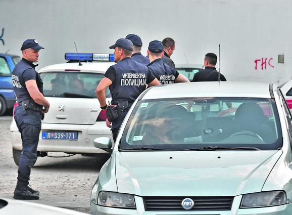 Policija na mestu otmice Gorana Cvijetića