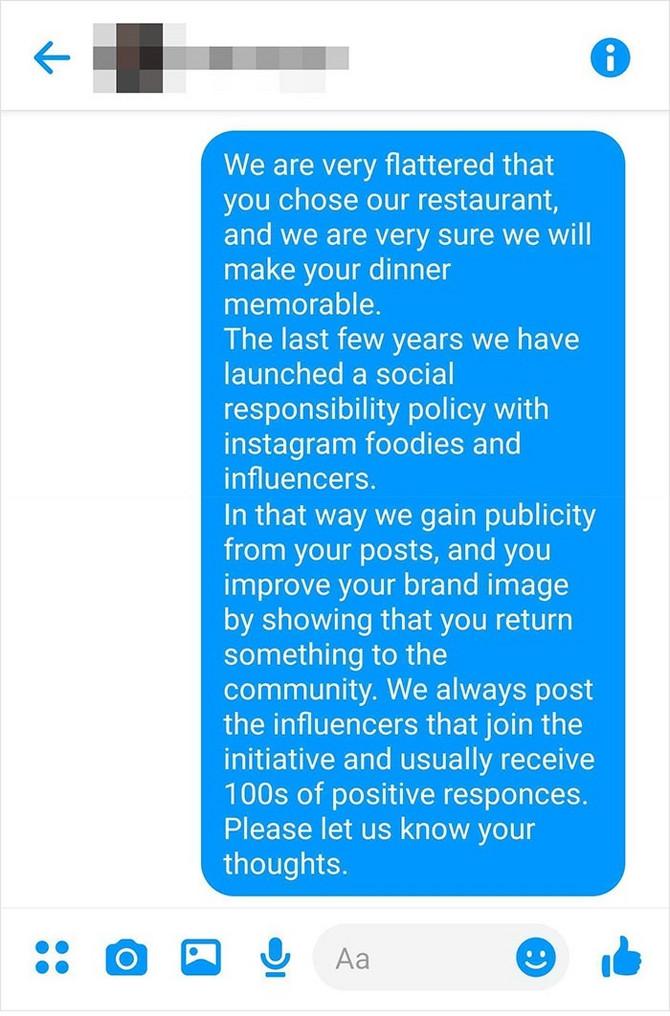 Odgovor restorana