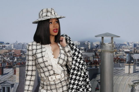 Cardi B is one of those who believe Trump's decision to kill Soleimani has put Americans' lives in danger.  (AP Photo/Francois Mori, file)