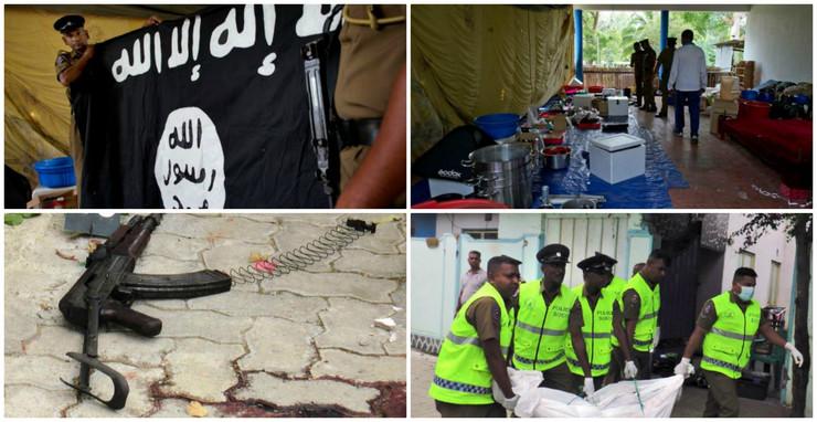 Kolaž Šri Lanka policija teroristi