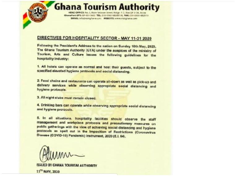 Ghana Tourism Authority's statement