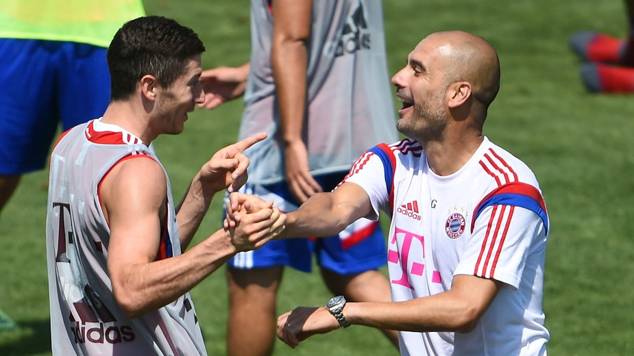 Pep Guardiola i Robert Lewandowski