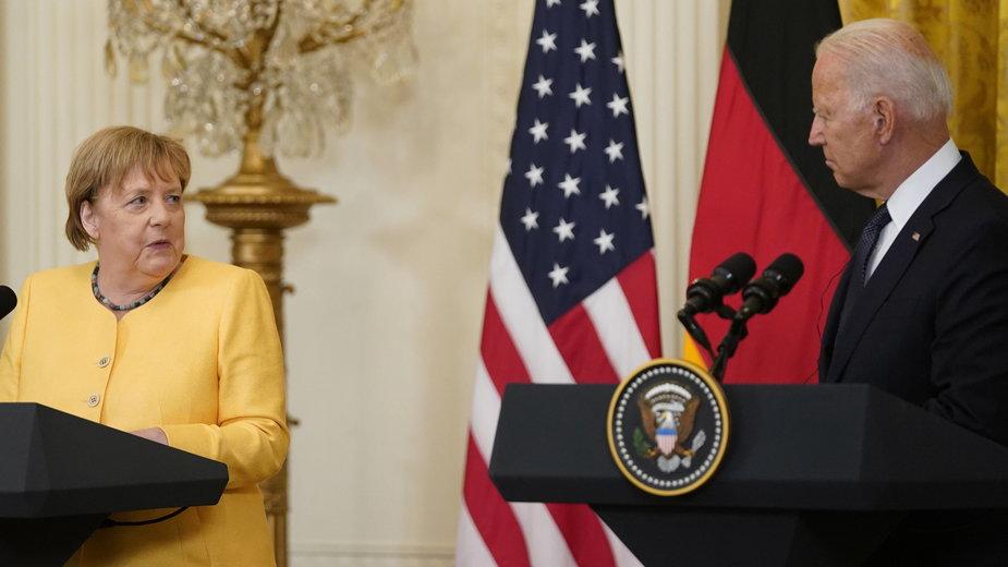 Angela Merkel i Joe Biden w Białym Domu
