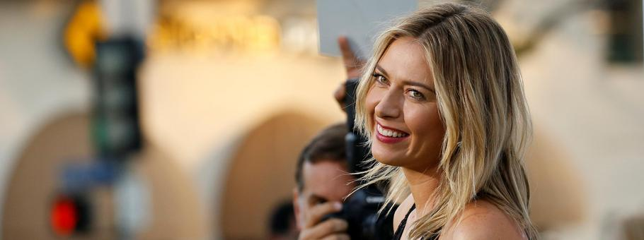 "Tennis player Sharapova poses at the premiere for ""Battle of the Sexes"" in Los Angeles"