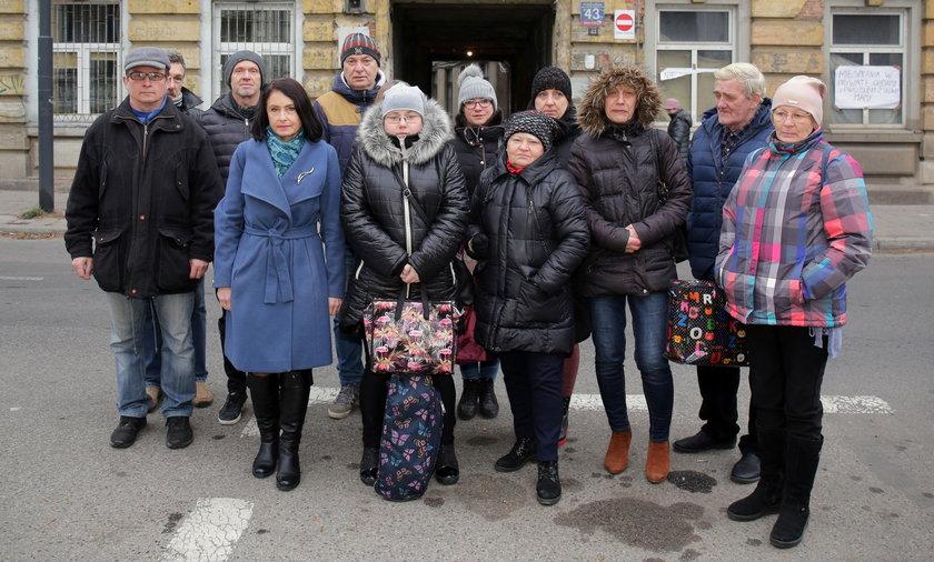 Lokatorzy z Wólczańskiej 43 w Łodzi