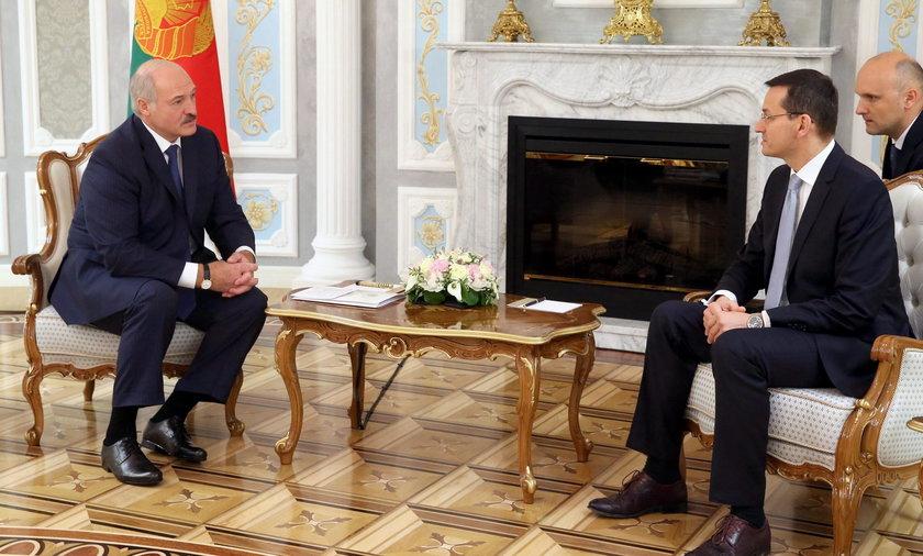Aleksander Łukaszenko i Mateusz Morawiecki