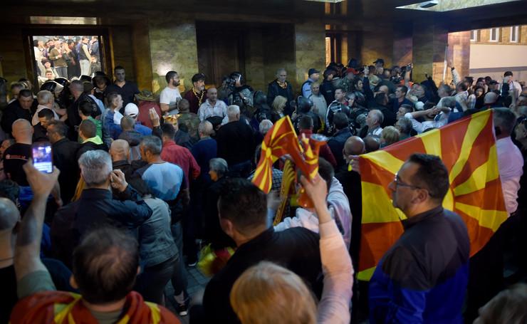 INCIDENT makedonija parlament skoplje sobranje (1) foto Epa Georgi Licovski