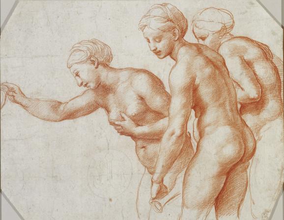 Studija za tri garcije, 1517-18.