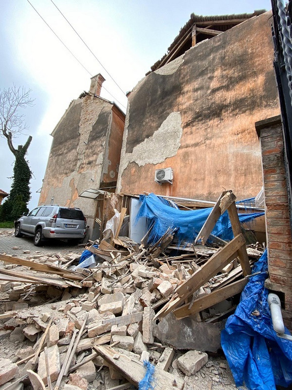 Kuća Nikoline Pišek posle zemljotresa u Zagrebu