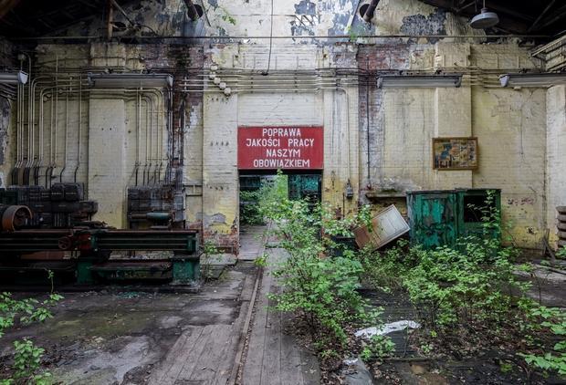 Opuszczone Warsztaty Naprawcze GKW w Rozbarku (Bytom)