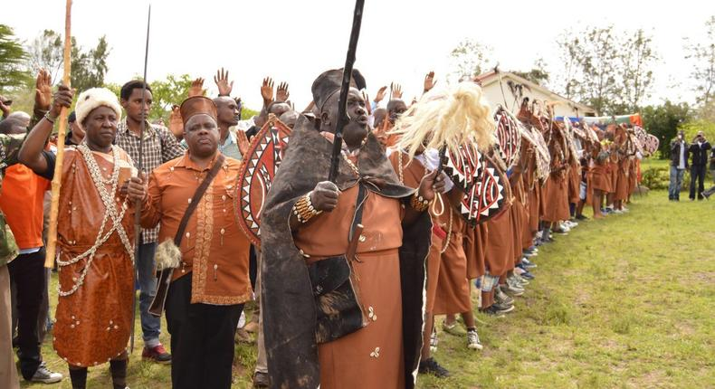The Kikuyu Council of elders at a past function.