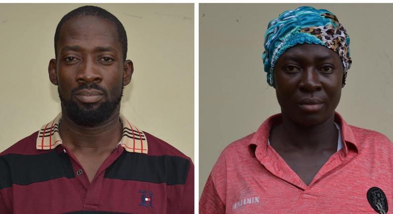 Michael Yusuf Michael (left) and Martha Daniel (right) are promotors of Kaduna-based NGO, MYM123CARE [EFCC]