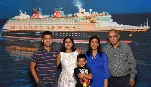 Aboard the Disney Magic cruise ship.
