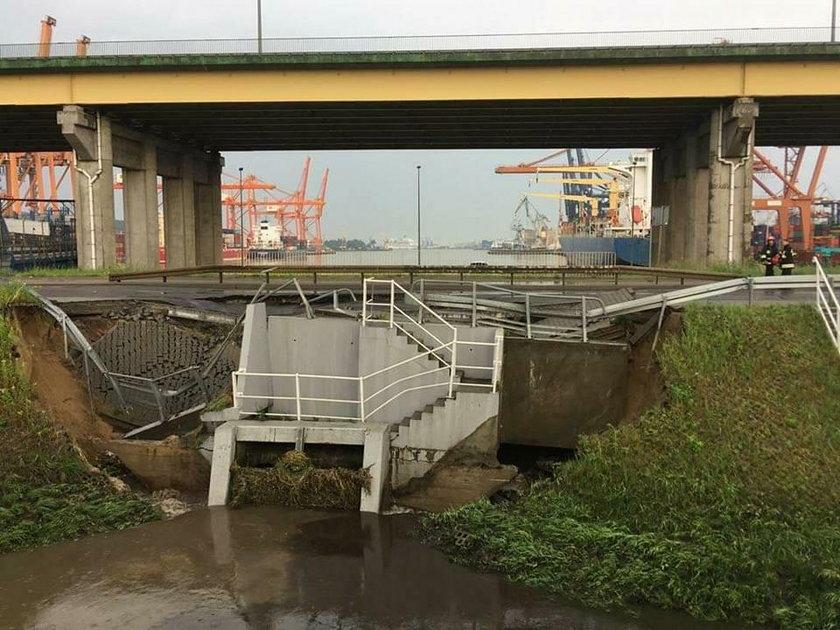 Fatalne skutki ulewy w Gdyni. To okolice ul. Janka Wiśniewskiego i Kontenerowej