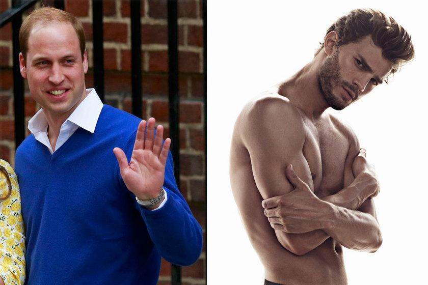 Książę William i Jamie Dornan
