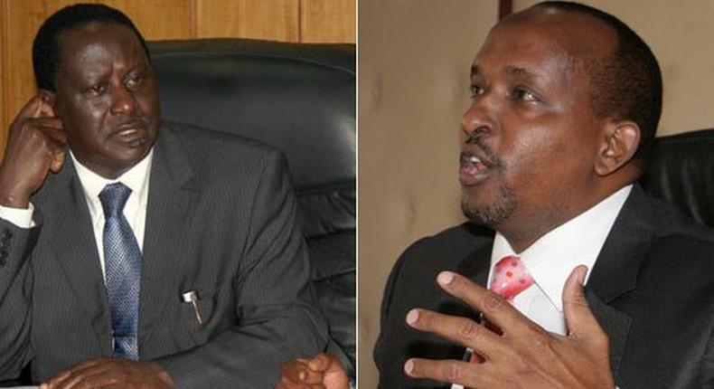 ODM leader Raila Odinga and Aden Duale
