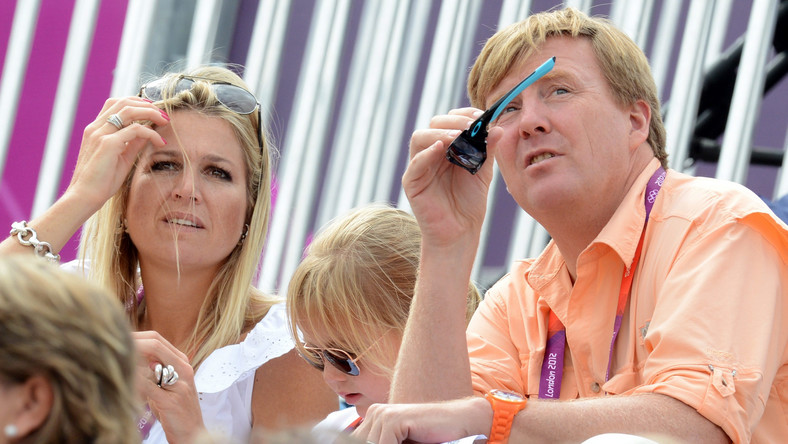 Holenderski książę Willem-Alexander i jego żona Maxima pojawili się na trybunach w czasie konkursu ujeżdżania