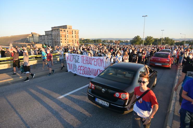 Novi Sad protestna šetnja 4. dan