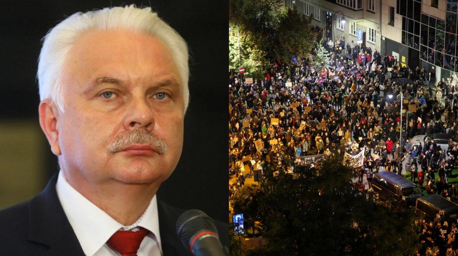 Wiceminister zdrowia martwi się protestami przeciwko zaostrzeniu przepisów o aborcji