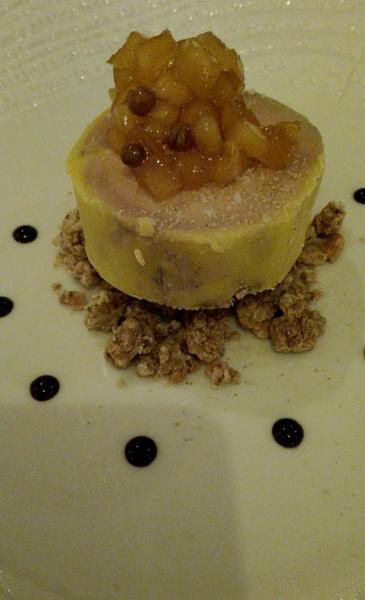 Foie Gras w restauracji Viscos w Saint-Savin