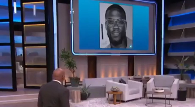 Nigerian artist who drew Kevin Hart gets featured on the Steve Harvey show