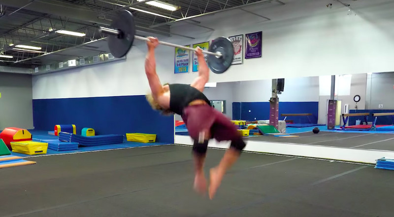 Watch Bodybuilder Jujimufu Master the Barbell Backflip