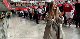 Małgorzata Rozenek ostro skrytykowana za lans na meczu naszej reprezentacji. Przy okazji dostało się też jej stylizacji