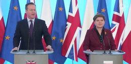 Cameron z wizytą w Polsce. Co mówił?