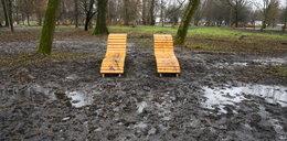 Odnowili park za 44 mln zł. Po kilku dniach obiekt tonie w błocie...