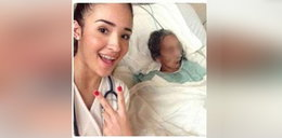 Studentka zrobiła selfie z umierającą pacjentką