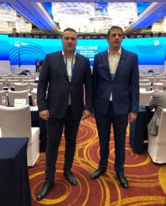 Generalni sekretar Saveza Nemanja Marijan i predsednik Saveza Viktor Jelenić