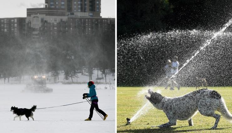 Amerika hladnoća, Australija vrućina