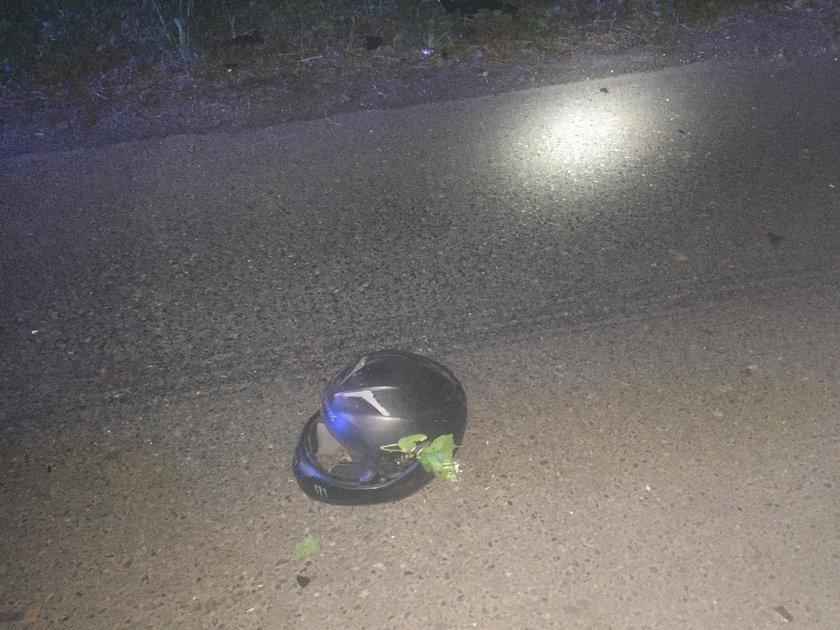 Dwa wypadki z udziałem motocyklistów