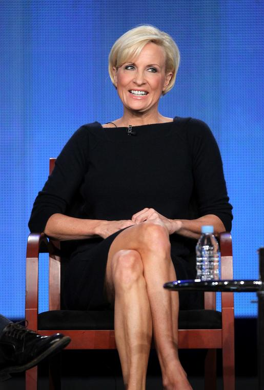"Mika Brzezinski podczas programu ""Morning Joe"""