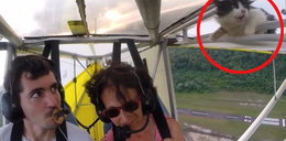 Nieprzypięty pasażer w motolotni poleciał na gapę