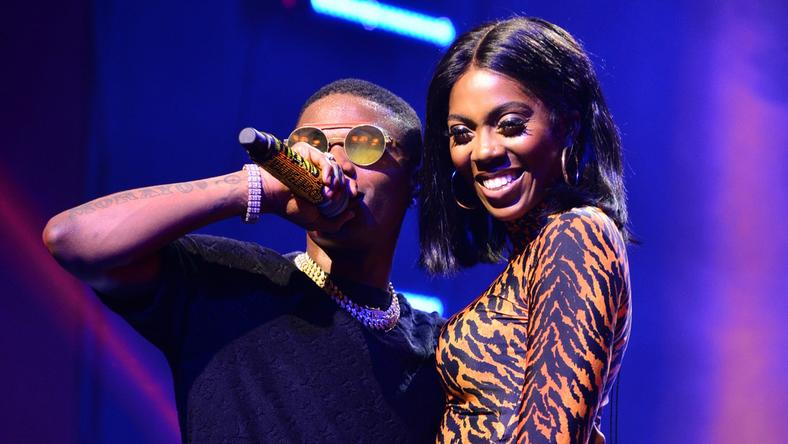 Wizkid and Tiwa Savage spotted having fun while on a shopping spree in Lagos