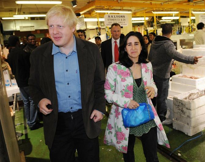 Boris sa bivšom suprugom Marinom
