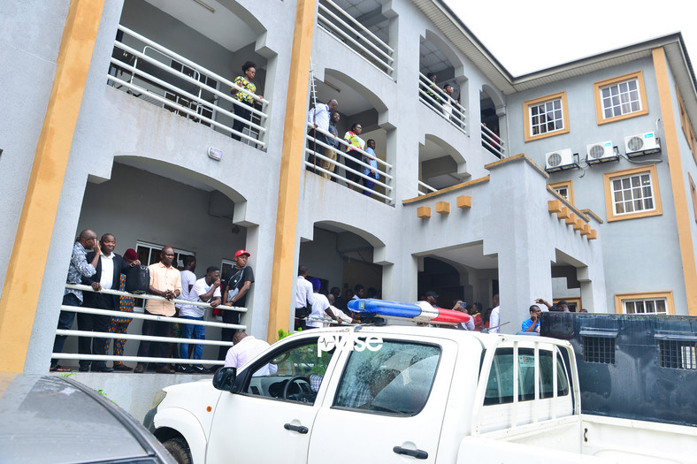 The Federal High Court, Ikoyi, Lagos where Naira Marley's bail application hearing took place [PULSE]