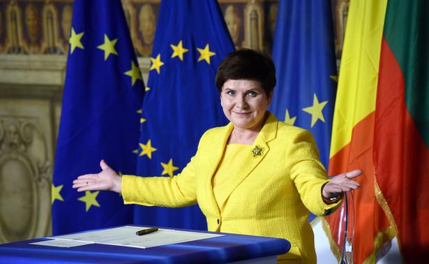Szefowa rządu powtórzyła też sprzeciw Polski wobec koncepcji Unii dwóch prędkości, gdyż to jej zdaniem grozi rozpadem UE