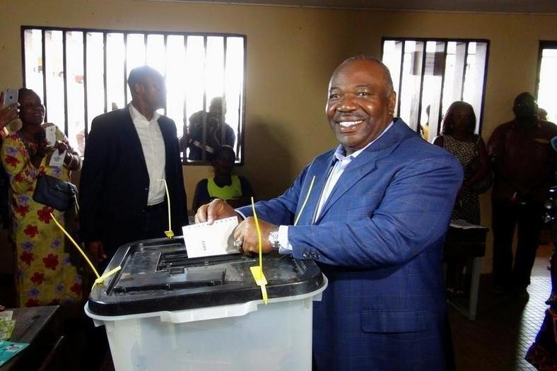 Ali Bongo Ondimba votes during the presidential election in Libreville, Gabon, August 27, 2016.