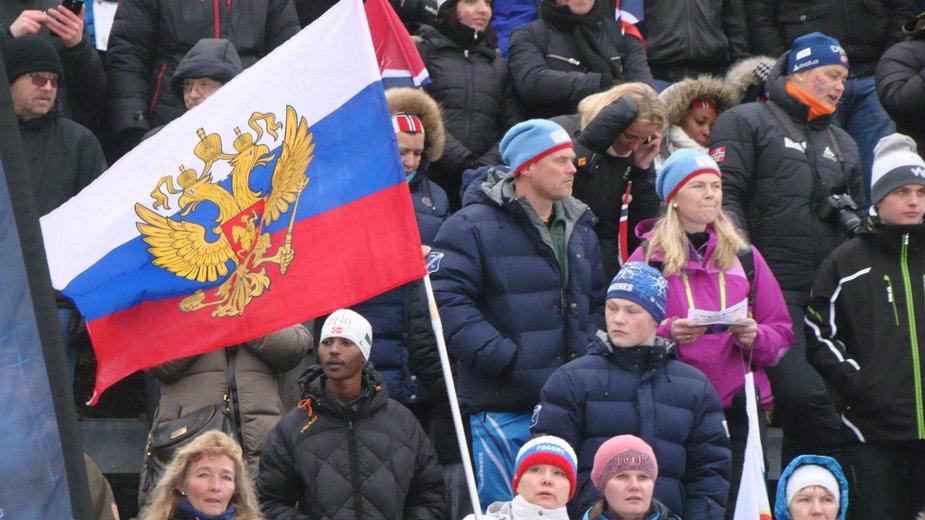 Biathlonowi kibice z Rosji